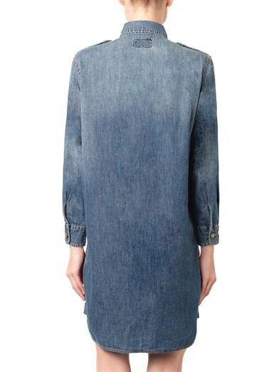 Charlotte Gainsbourg X Current/Elliott The Perfect denim shirt dress