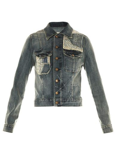 Current/Elliott Hippie patch denim jacket