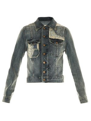 Hippie patch denim jacket