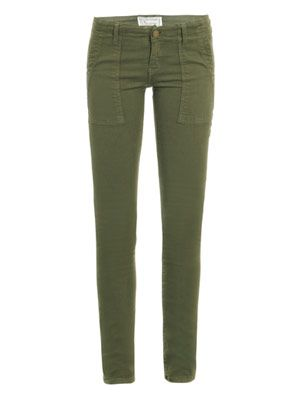 Combat low-rise skinny jeans