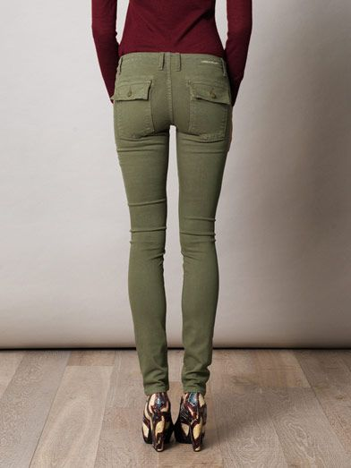 Current/Elliott Combat low-rise skinny jeans