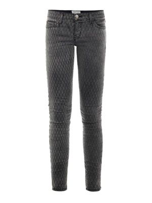 Fishnet low-rise skinny jeans