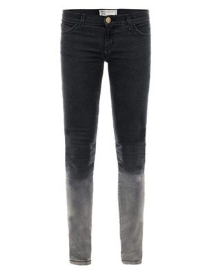 Ombré fade low-rise skinny jeans