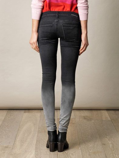 Current/Elliott Ombré fade low-rise skinny jeans