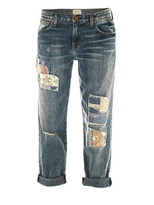Panhandle destroy low-rise boyfriend jeans