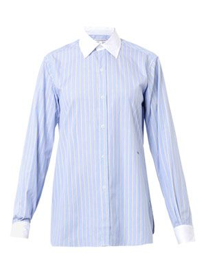 The Button Down striped cotton shirt