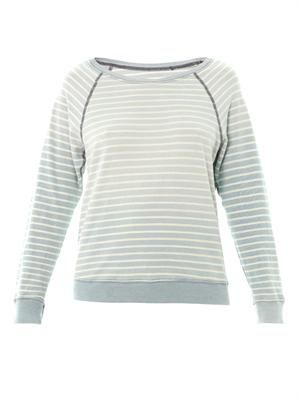 The Letterman stripe sweatshirt