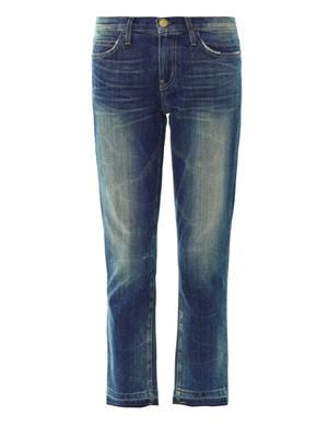 The Cropped low-rise straight-leg jeans