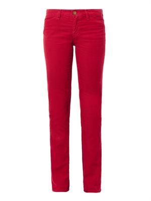 The Mid-rise straight-leg corduroy jeans