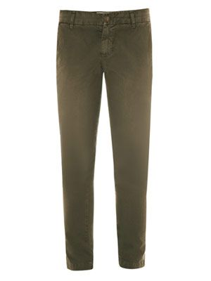 Buddy mid-rise tapered leg chinos