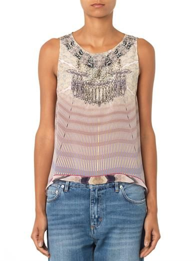 Camilla Earth Chant silk top