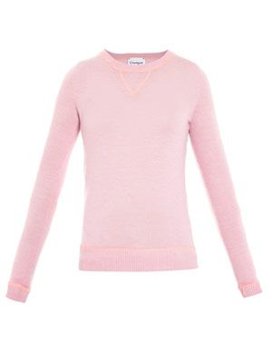 Cashmere overlocking detail sweater