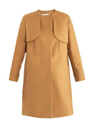 Simple cotton trench coat