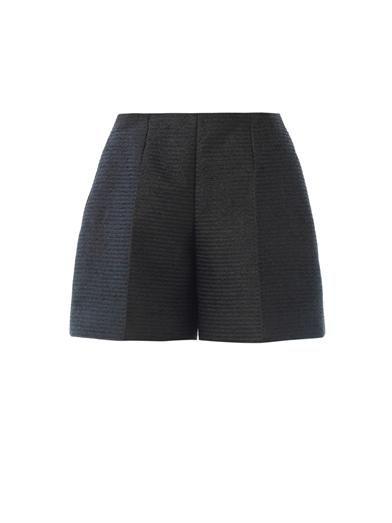 Carven Straw chevron shorts