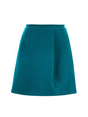 Wool-crepe skirt