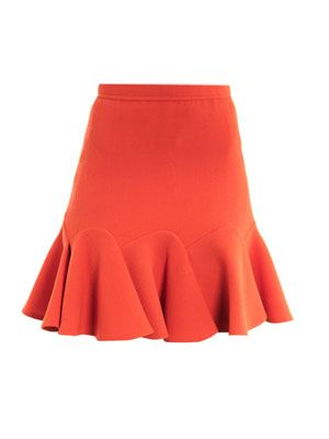 Double crepe skirt