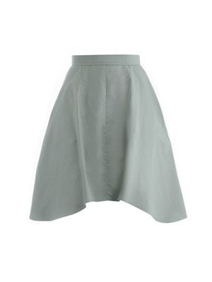 Shaped hem skirt