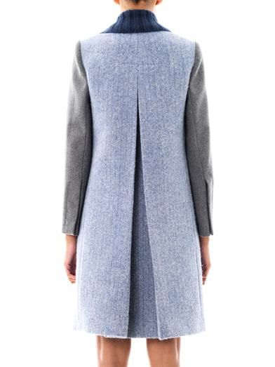 Carven Contrast sleeve wool coat
