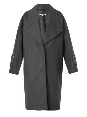Oversized compact-wool coat