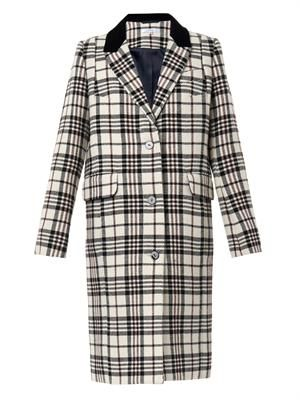 Tailored tartan coat