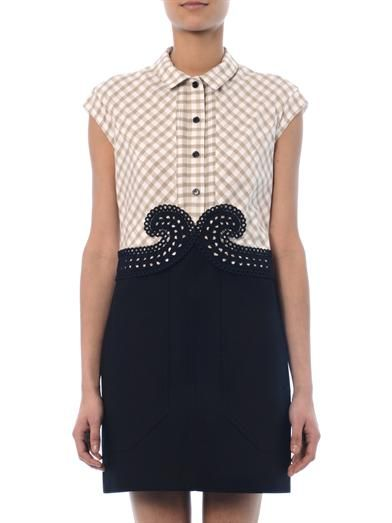 Carven Multi-panel shirt dress