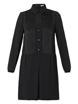 Button-front shirt-dress