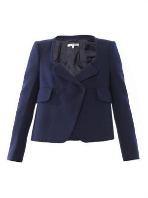 Single button open neckline jacket