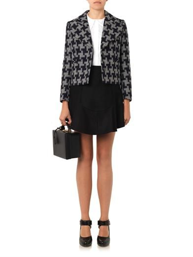 Carven Oversized-hound's-tooth wool jacket