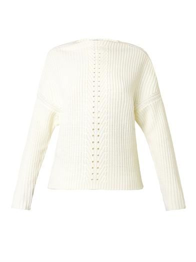 Carven Ribbed-knit wool sweater