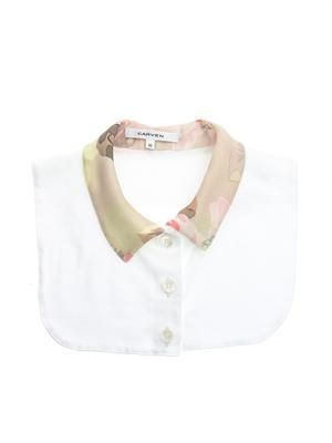 Contrast floral print collar