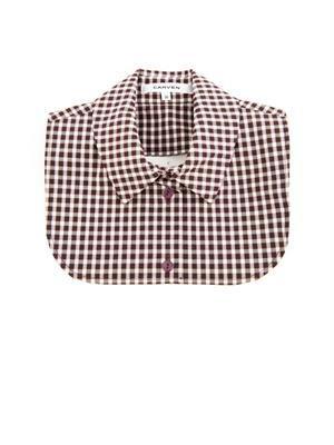 Gingham-print collar