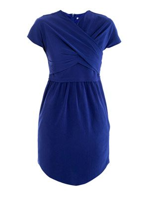 Technical twist-neck dress