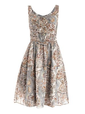 Paris-print cotton dress