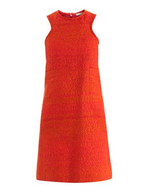 Tweed-raffia sleeveless dress