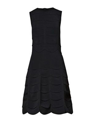 Scallop knit fitted dress
