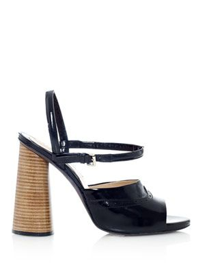 Spazzalato stacked heel leather sandals