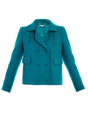 Wool-crepe double breasted jacket