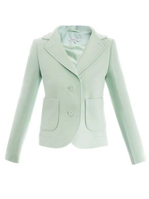 Double-crepe two-button jacket