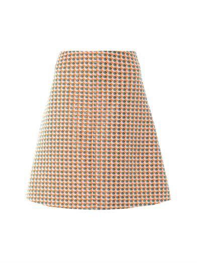 Carven Fancy tweed A-line skirt