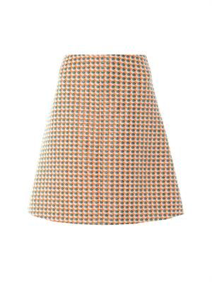 Fancy tweed A-line skirt