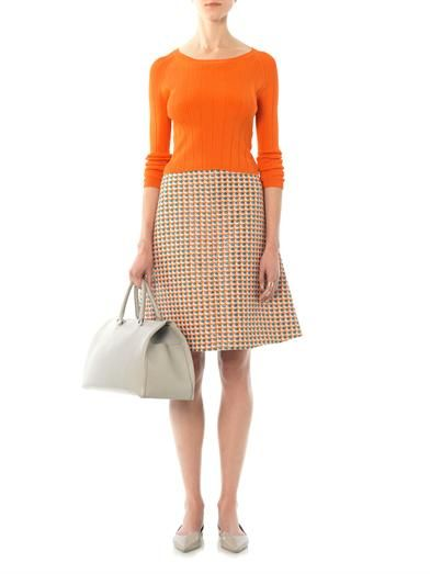 Carven Fancy tweed A-line skirt