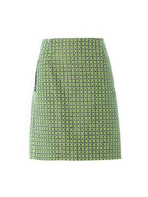 Checked tweed skirt