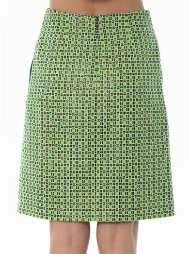 Carven Checked tweed skirt