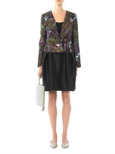 Carven Cotton and silk-blend belted skirt