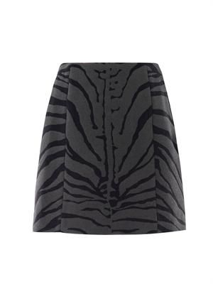 Zebra-print lantern skirt