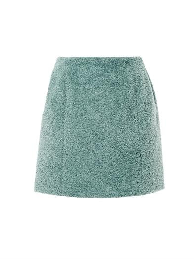 Carven Curly tweed skirt