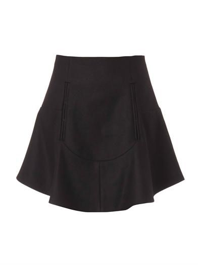 Carven Compact-wool flared skirt