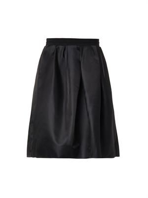 Gazar pleated skirt