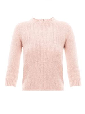 Angora zip-back sweater