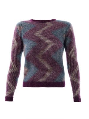 Zigzag angora sweater